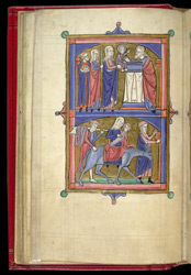 The Presentation In The Temple, And The Flight Into Egypt., In 'The Grandisson Psalter'